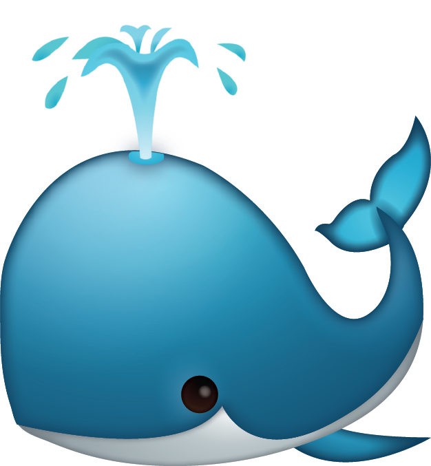 Whale Spouting Emoji [Free Download IOS Emojis] Free Photo Icon PNG Image